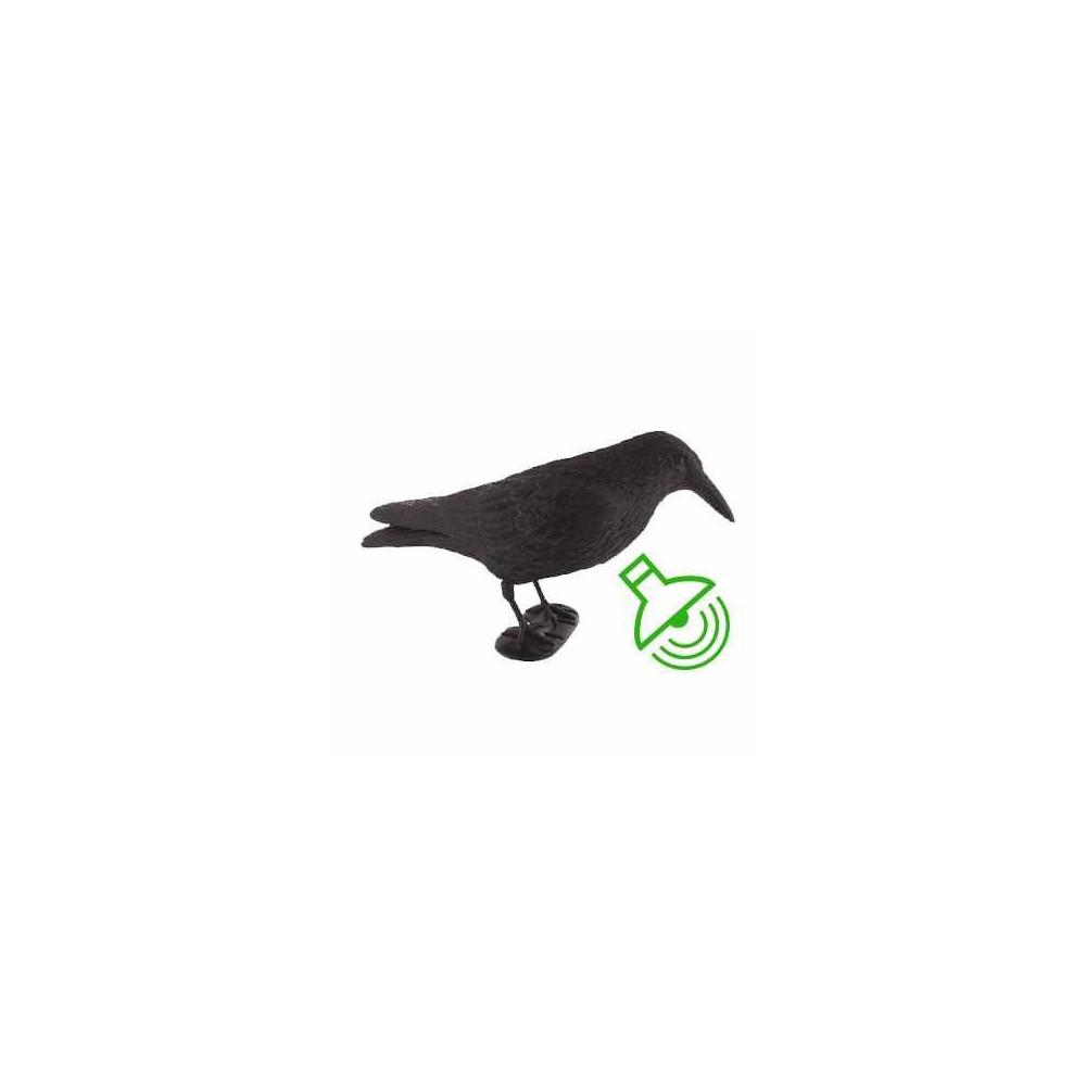 Forme de corbeau croasseur floqué