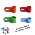 Attache plastique sarcelle d.6,5mm