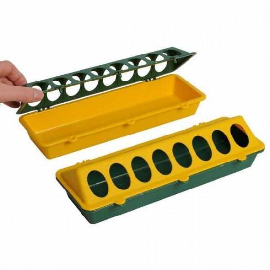 Mangeoire métal pour canetons 30 cm
