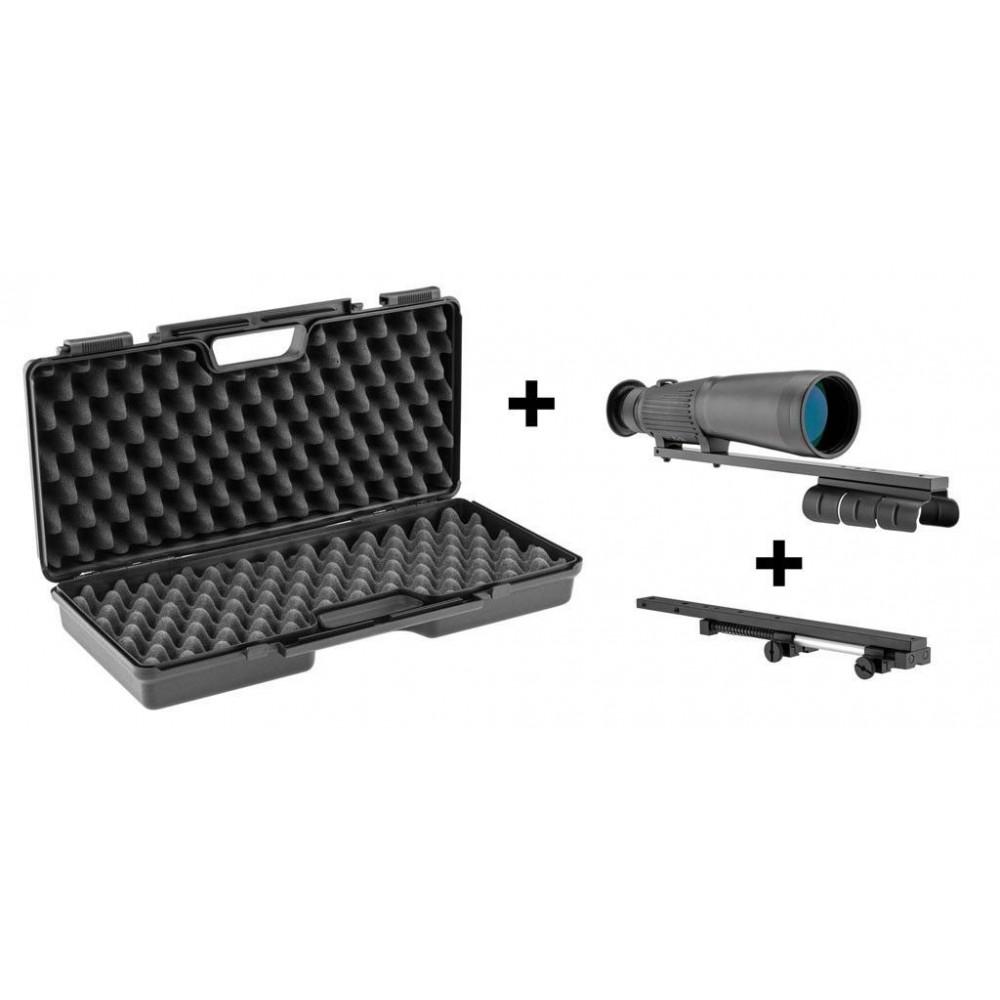Pack demi-jumelle 9x63 RTI + Compensateur + Mallette