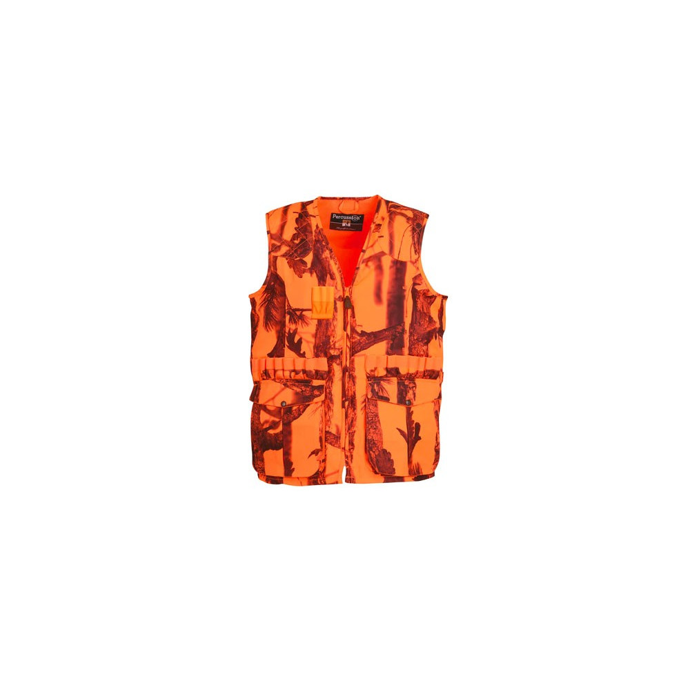 Gilet de chasse orange Percussion