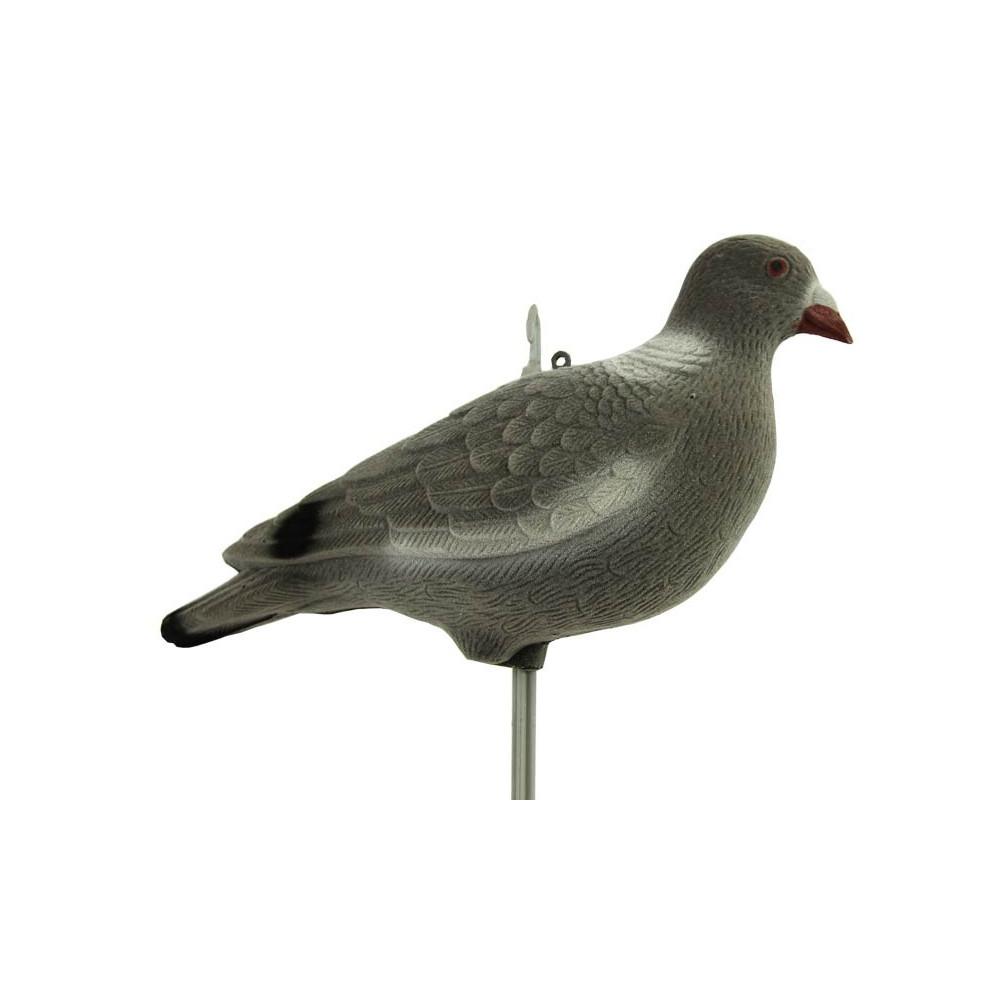 Forme de pigeon floquée