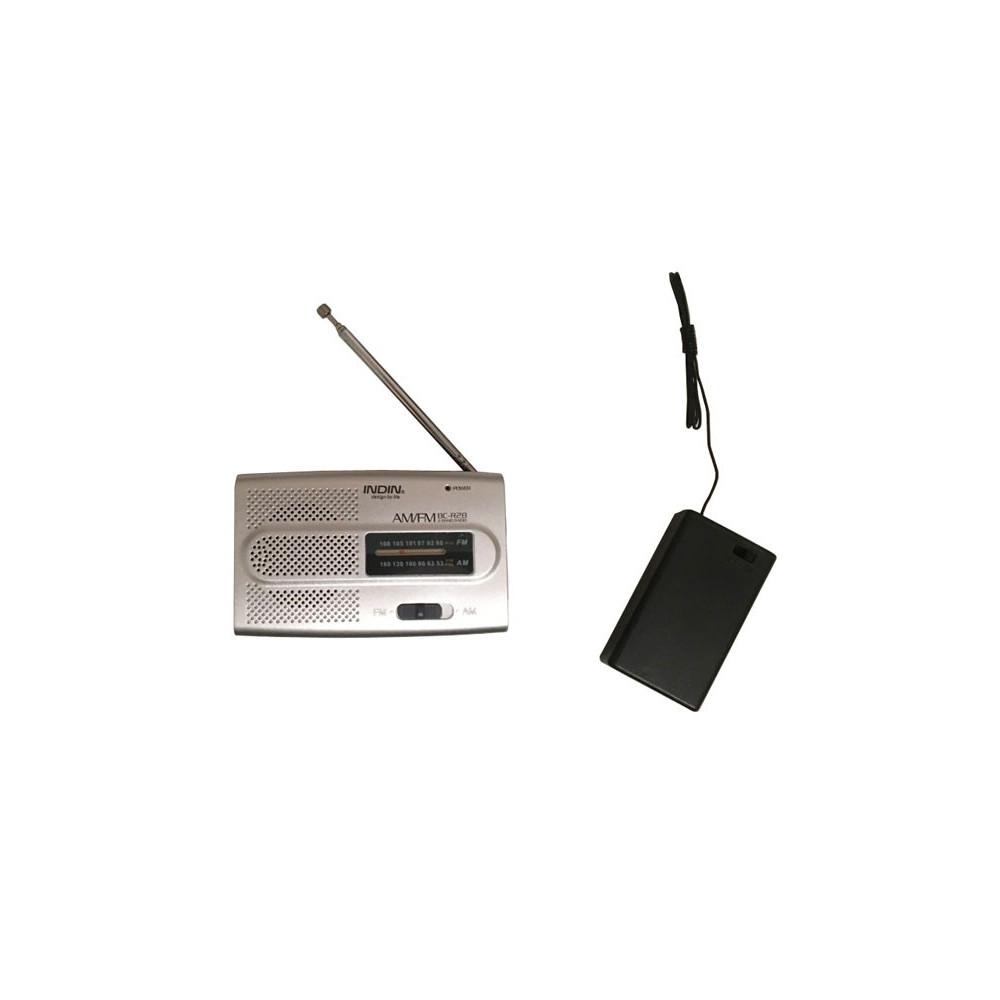 Micro de hutte sans fil avec récepteur FM