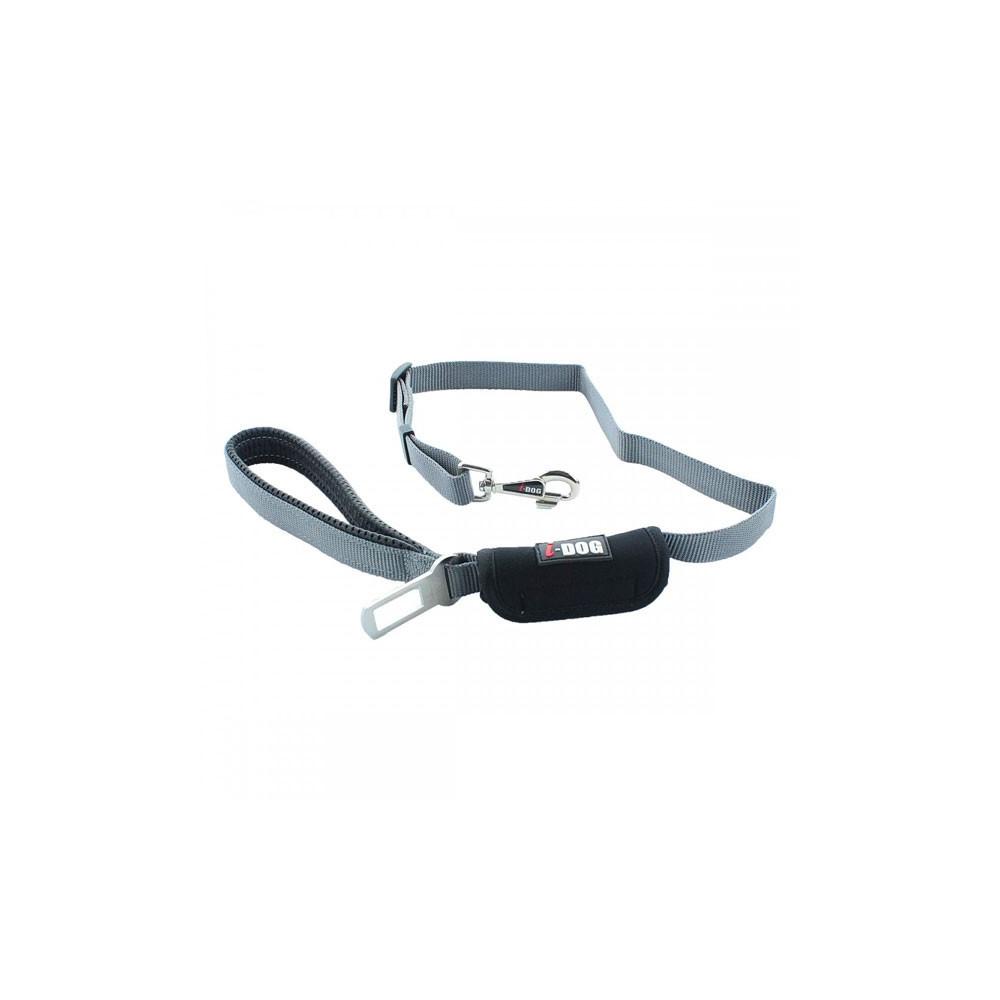 Laisse I-Dog avec boucle ceinture de sécurité