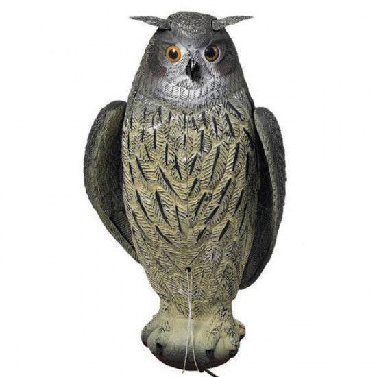 Forme de hiboux à ailes battantes