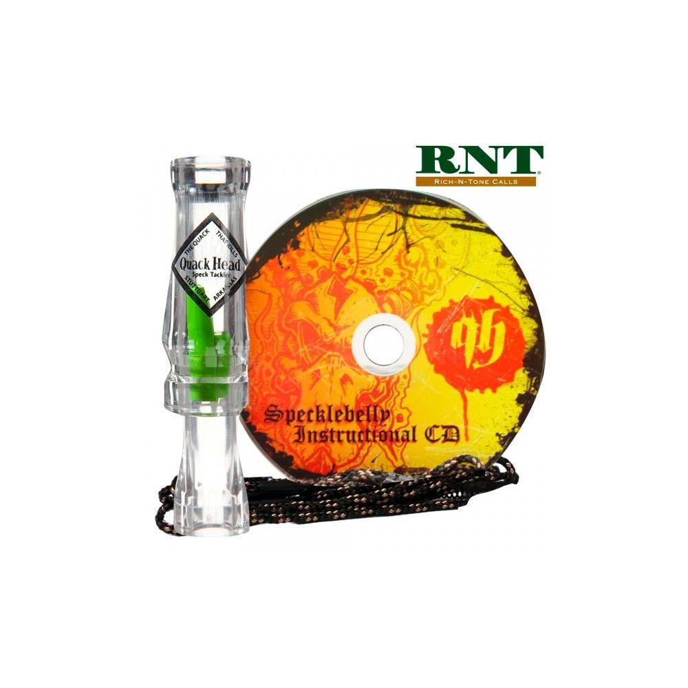 Appeau à oie rieuse RNT Quackhead Speck Tackler + CD