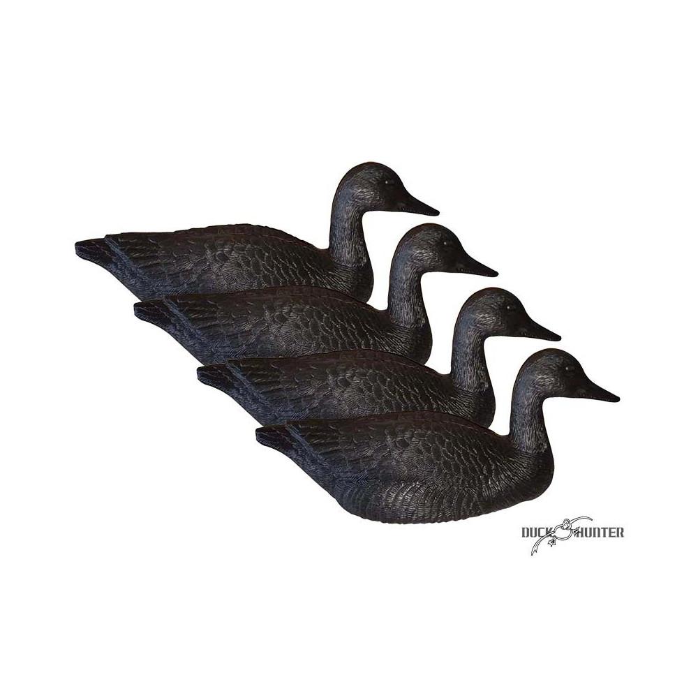 Forme d'oie noire flottante
