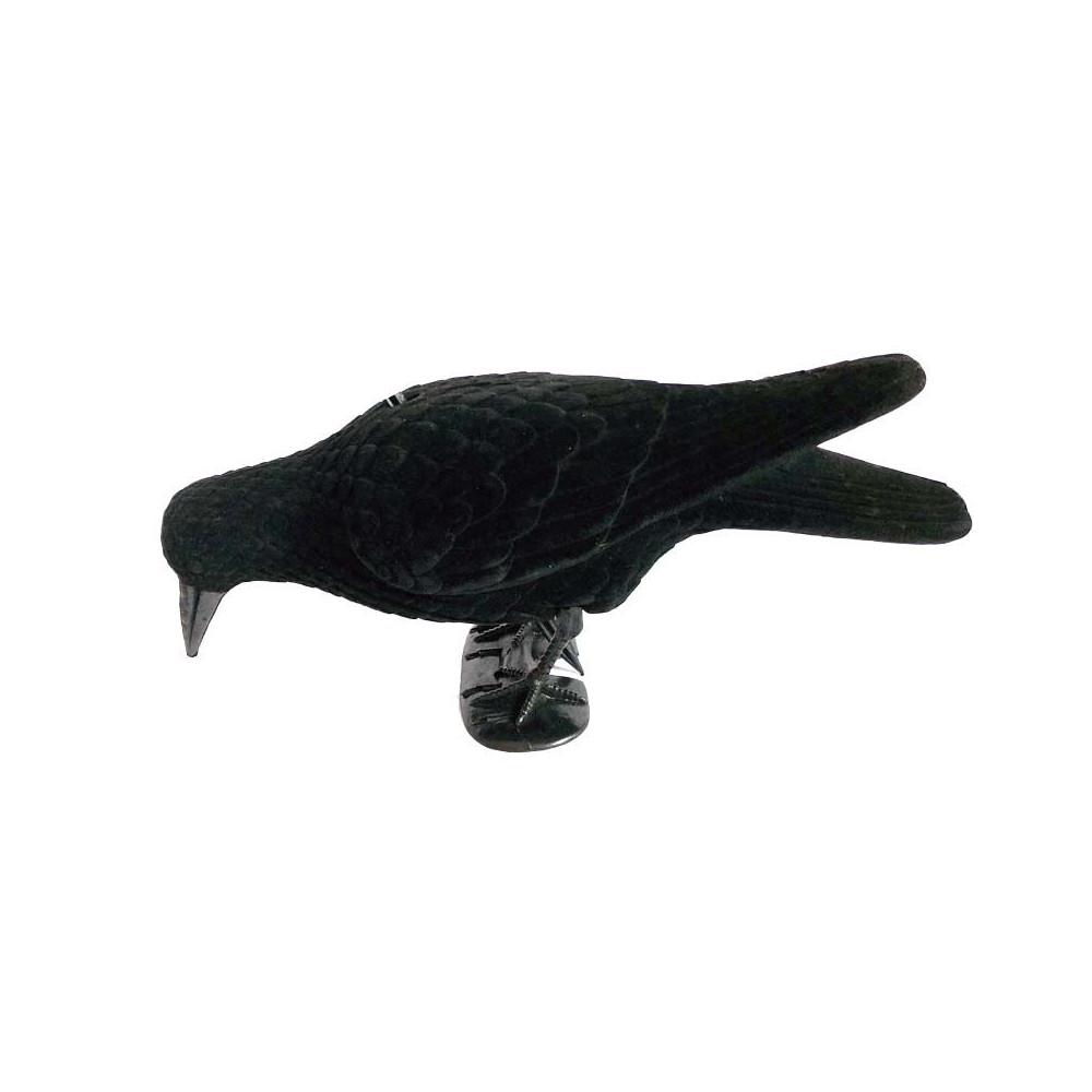 Forme de corbeau mangeur floquée