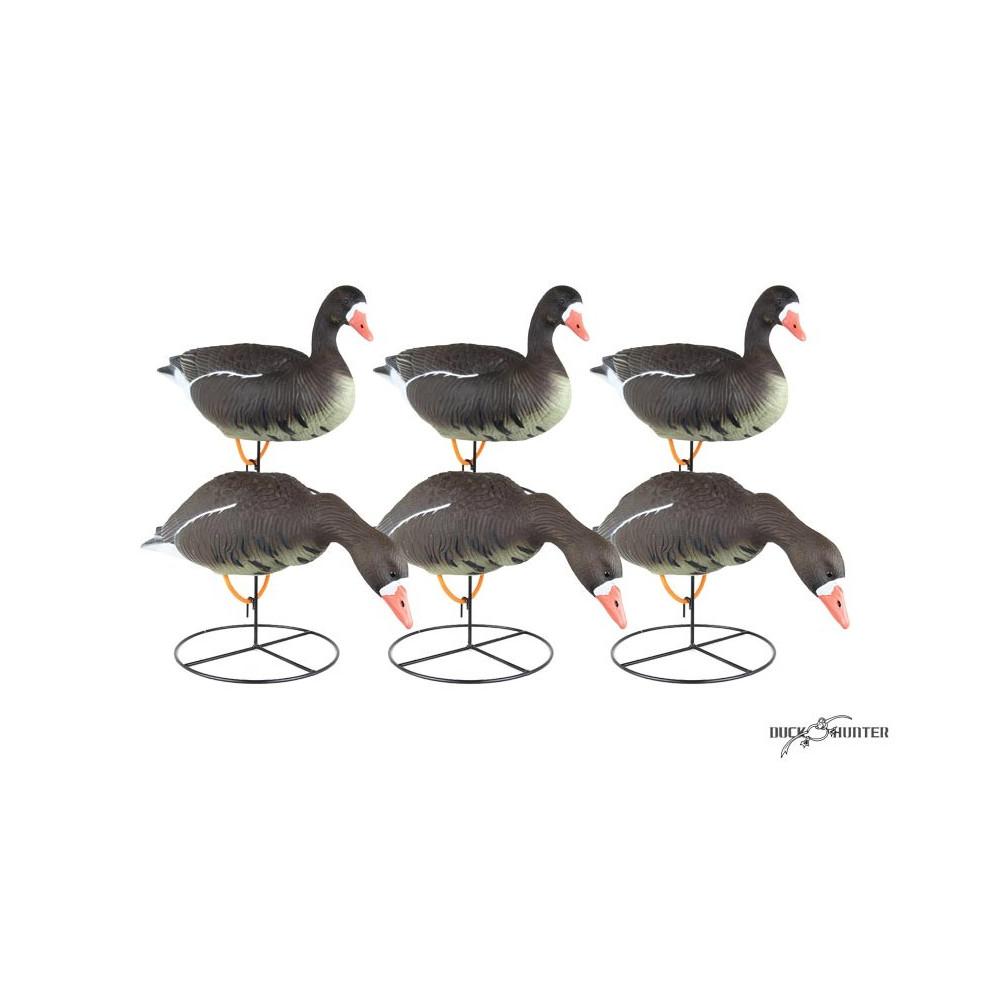 Forme d'oie rieuse sur pattes Duck Hunter x6