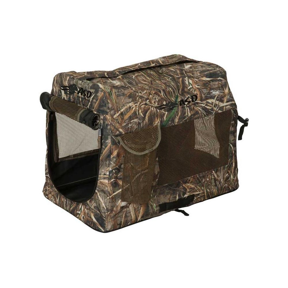 Caisse de transport camo pliante pour chien de chasse
