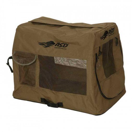 Caisse de transport pliante pour chien de chasse