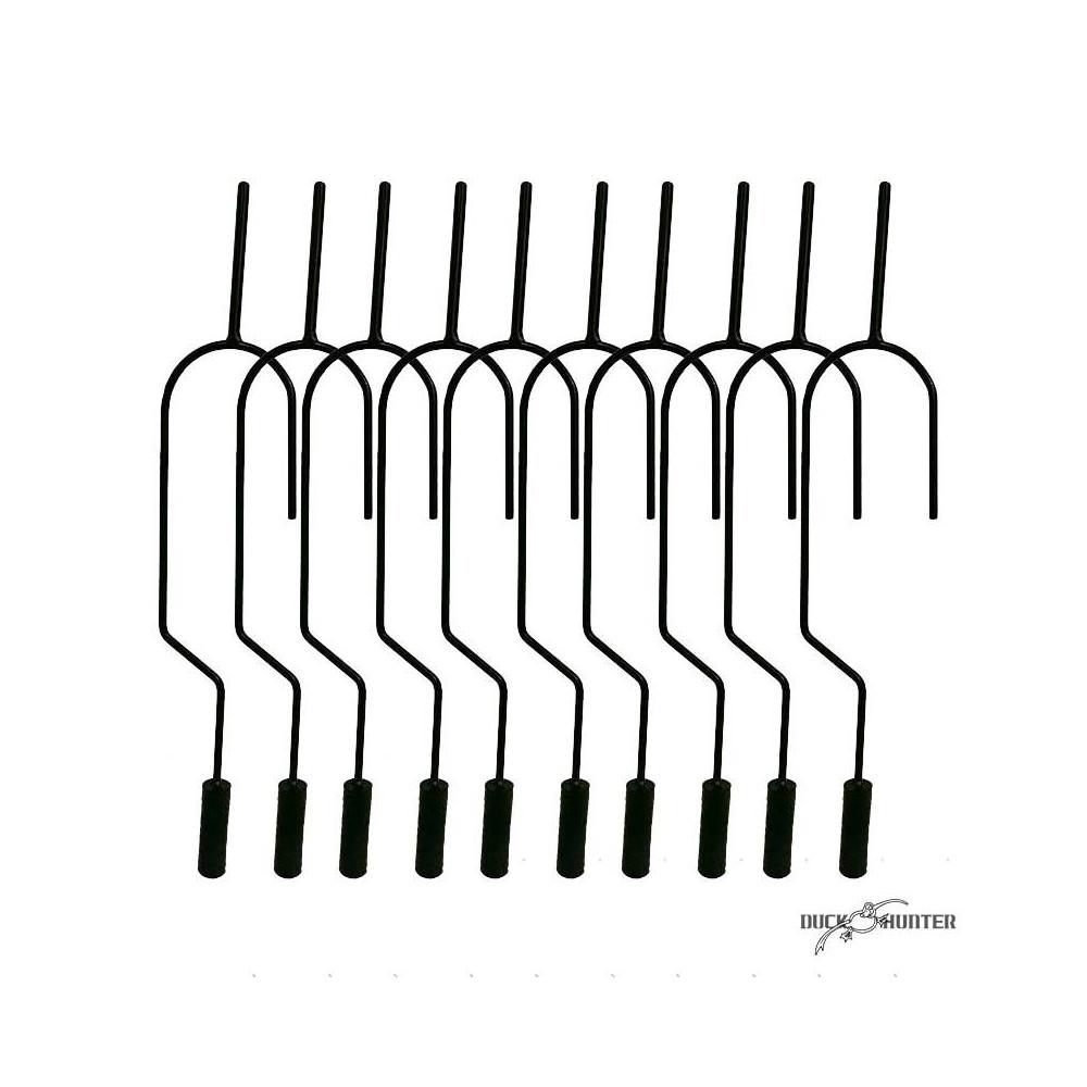 Crochet pour forme de pigeon x10