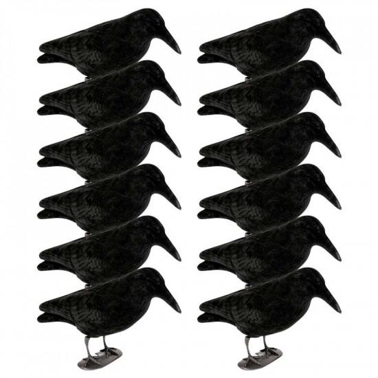 Pack de 12 corbeaux sur patte