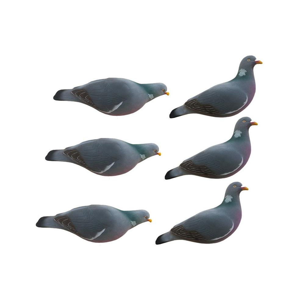Formes de pigeon floquées Last Pass x6