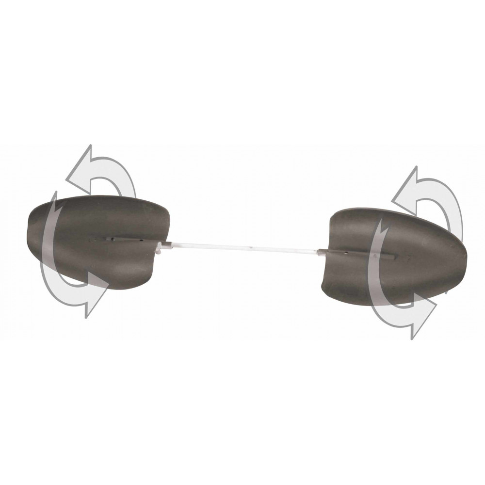 Ailes à vent seules floquées pour appelants plastiques