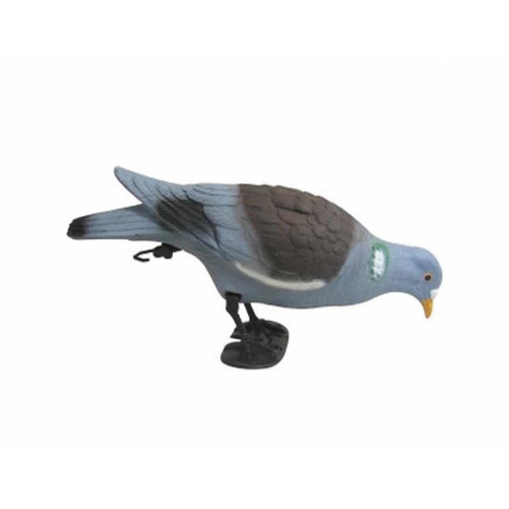 Forme de pigeon bécquettant sur pattes