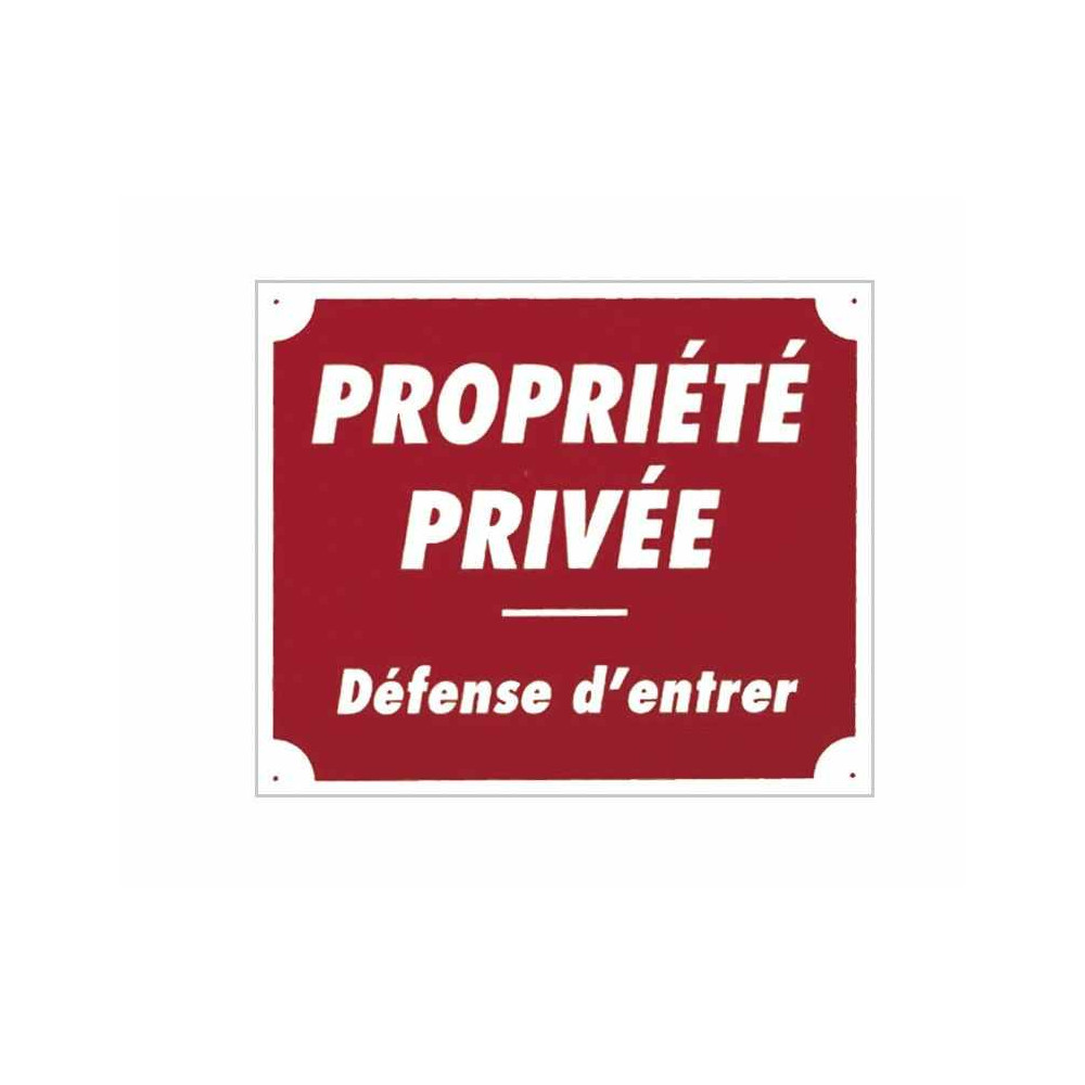 "Panc.Alu ""Prop.Privee Def.Entrer"""