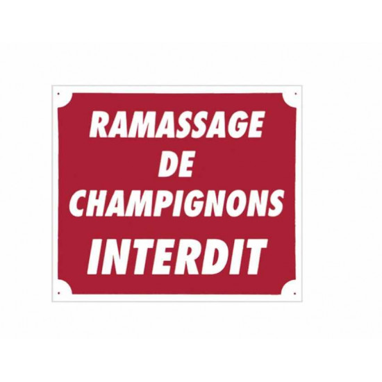 "Panc.Alu ""Ramassage Champignons Interdit"""