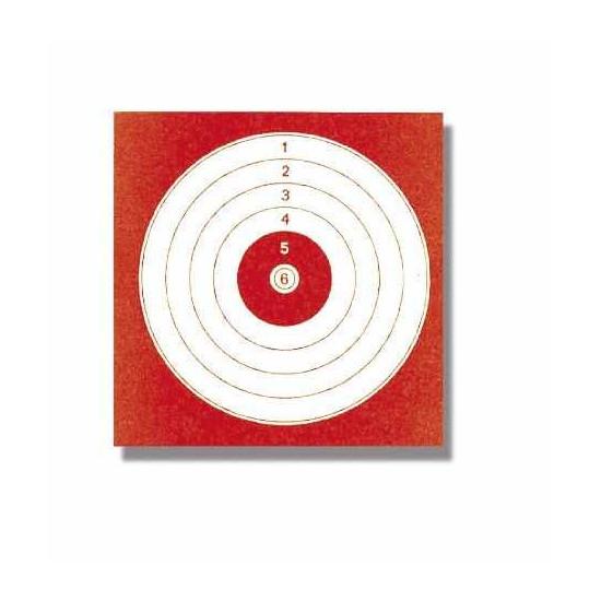 Cibles 14 X 14 Rouge Paquet De 1000