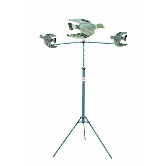 Tir Aux Pigeons (3) - Carabine Crosse Bois 1 Cp- 6 Flechettes - Meca