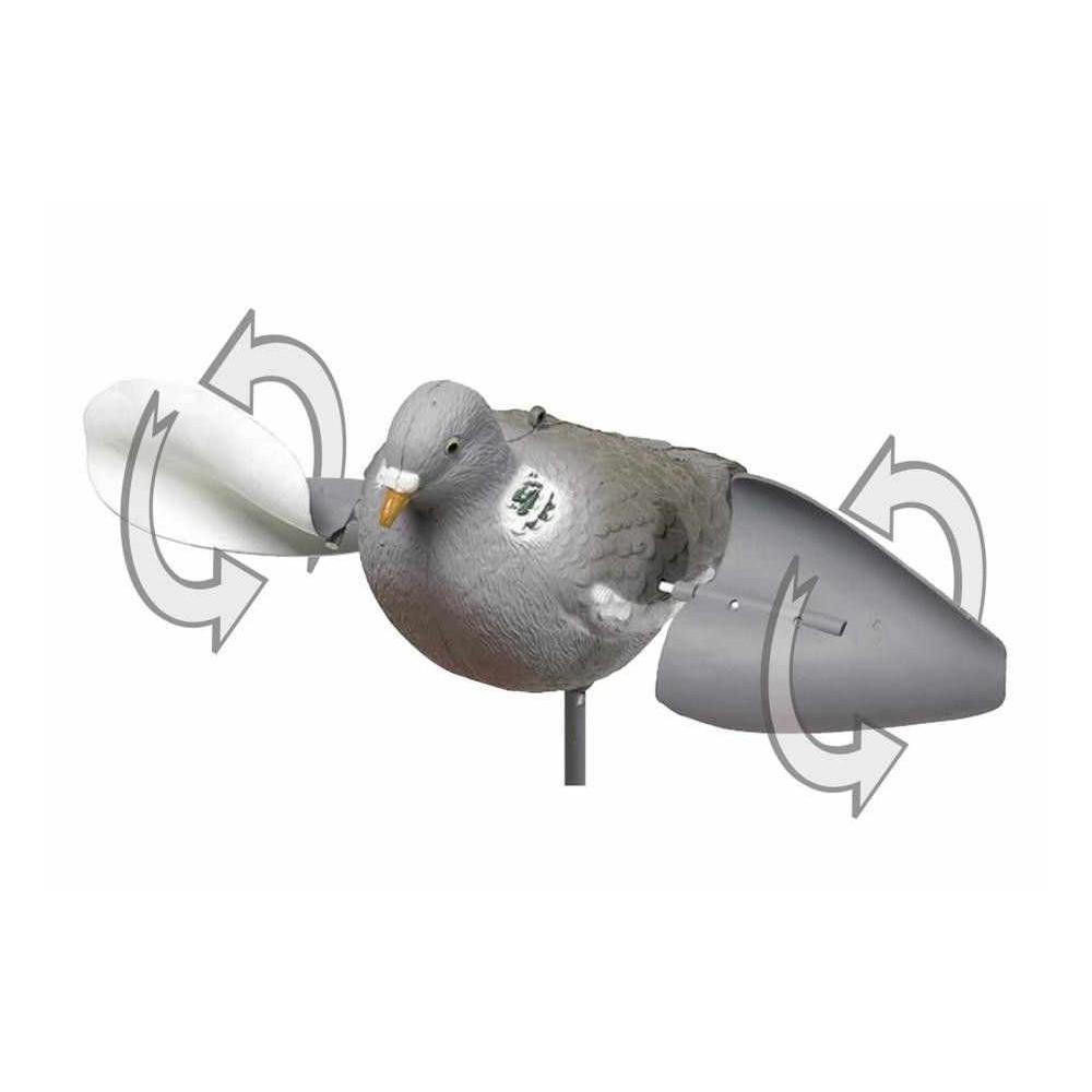 Appelant plastique pigeon à ailes tournantes